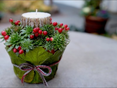 DIY Leaf-Wrapped Pot Candle Holder ???????????? . Garden Answer