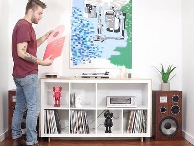 DIY Media. Record Console   Ikea Hack   Kallax Bookcase