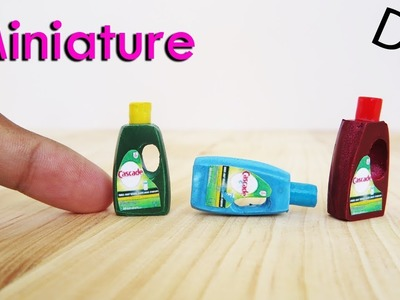 DIY Miniature dishwashing liquid bottles | No Polymer clay