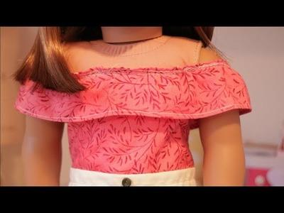 DIY Off-the-Shoulder Top for an AG doll || cutedollAG