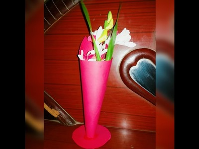 DIY paper flower pot tutorial || how to make flower pot or stand with paper?