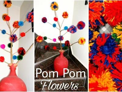 DIY Pom-Pom Flowers | Wool Flowers | Wool Crafts | The Blue Sea Art