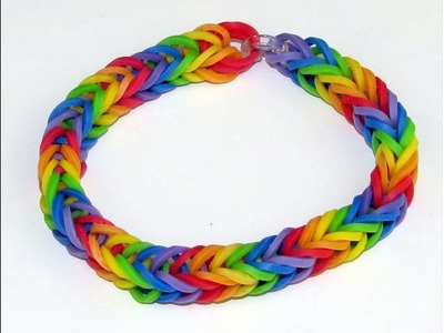 DIY Rainbow Loom Fishtail Bracelet (Only using your Fingers)