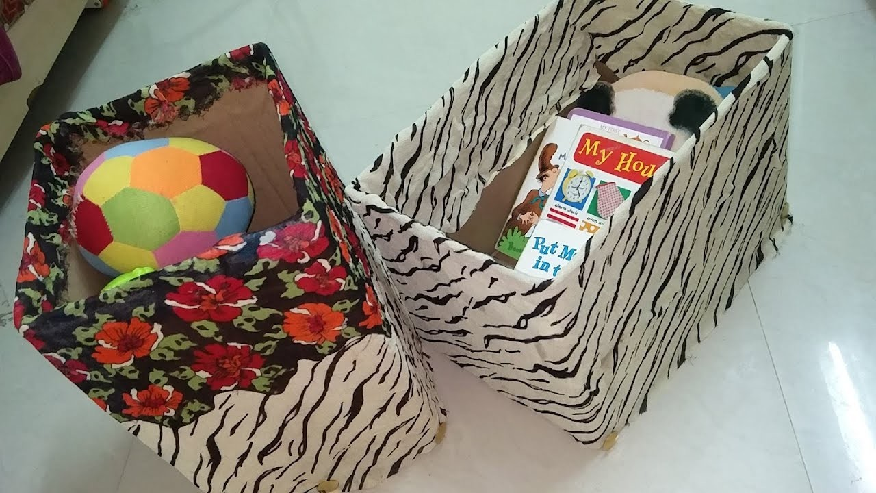 DIY RECYCLING CARDBOARD TO STORAGE BOX.HOME DECOR