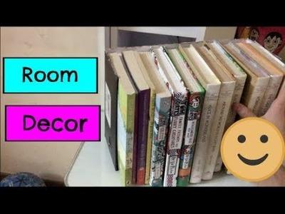DIY ROOM DECOR & ORGANISATION! Easy bookshelf!
