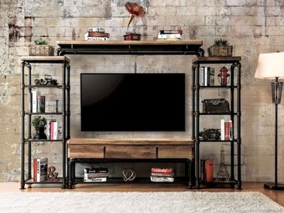 DIY Rustic Shabby Chic Style TV Stand | Home decor | Furniture Entertainment Center Ideas