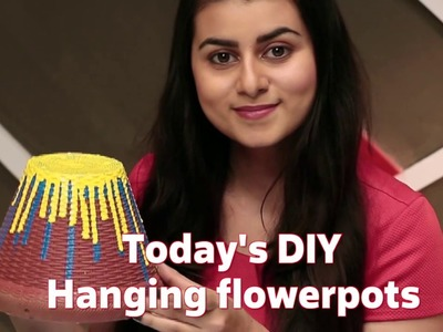 DIY with Sabrina: Hanging Flowerpots