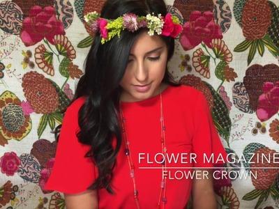 Easy, DIY, Fresh Flower Crown