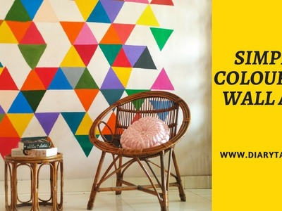 Easy geometric wall art | DIY wall art ideas + tips | Diarytale