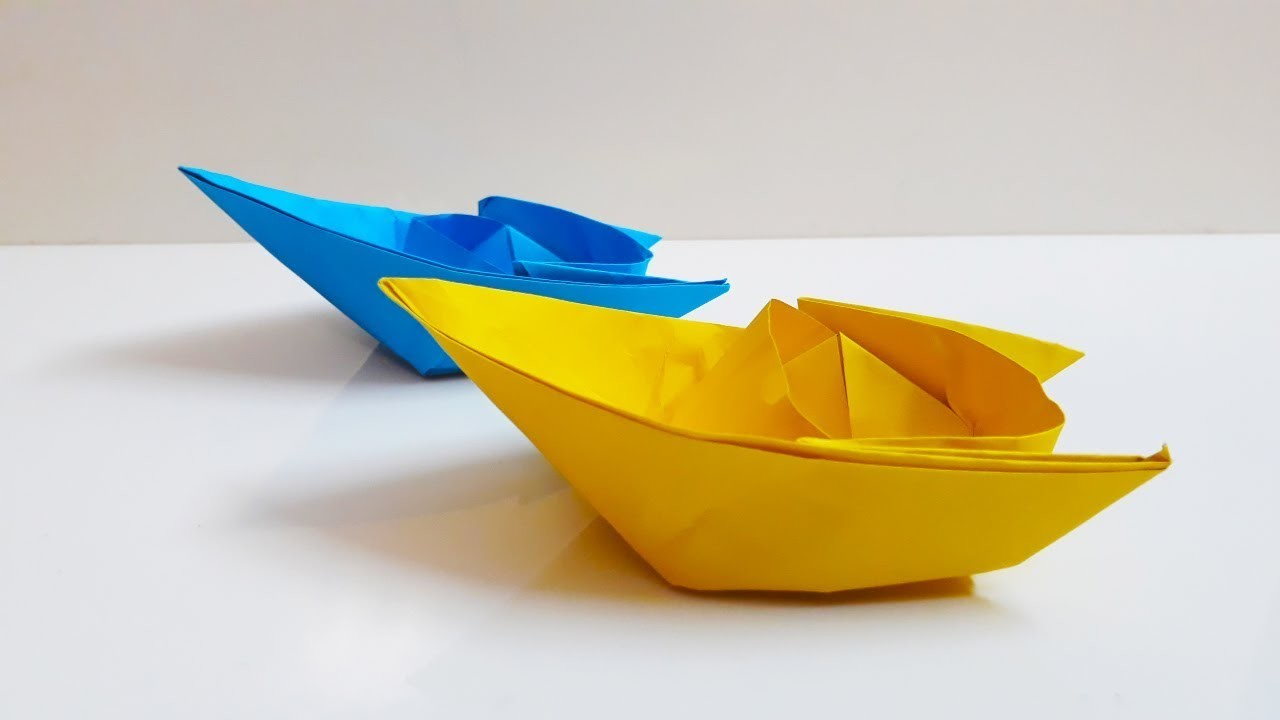 Easy Origami Boat, Paper Boat Making Instructions step by