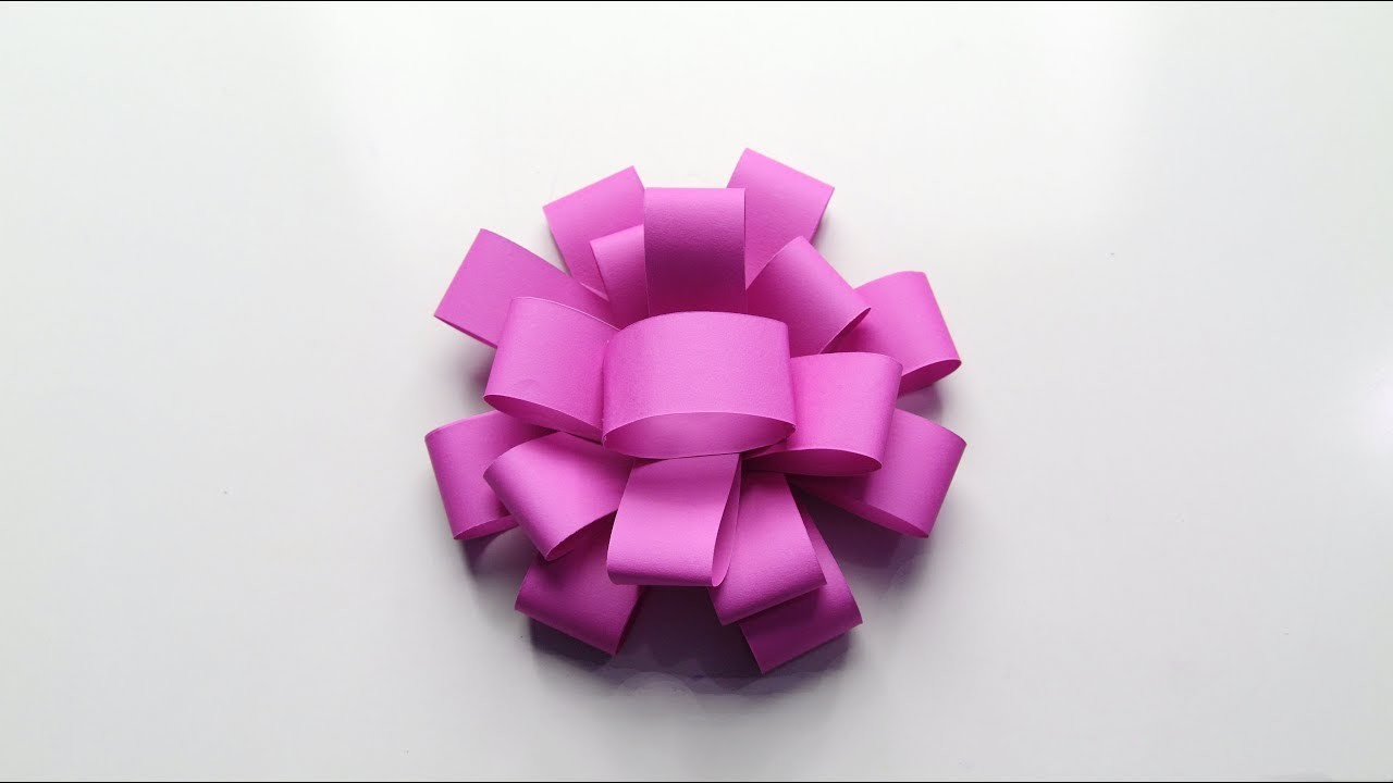 Easy Paper Flower How To Make A Paper Flower Origami Flowers
