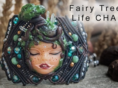 Fairy Tree of Life charm with Polymer Clay and Quartz | Making process