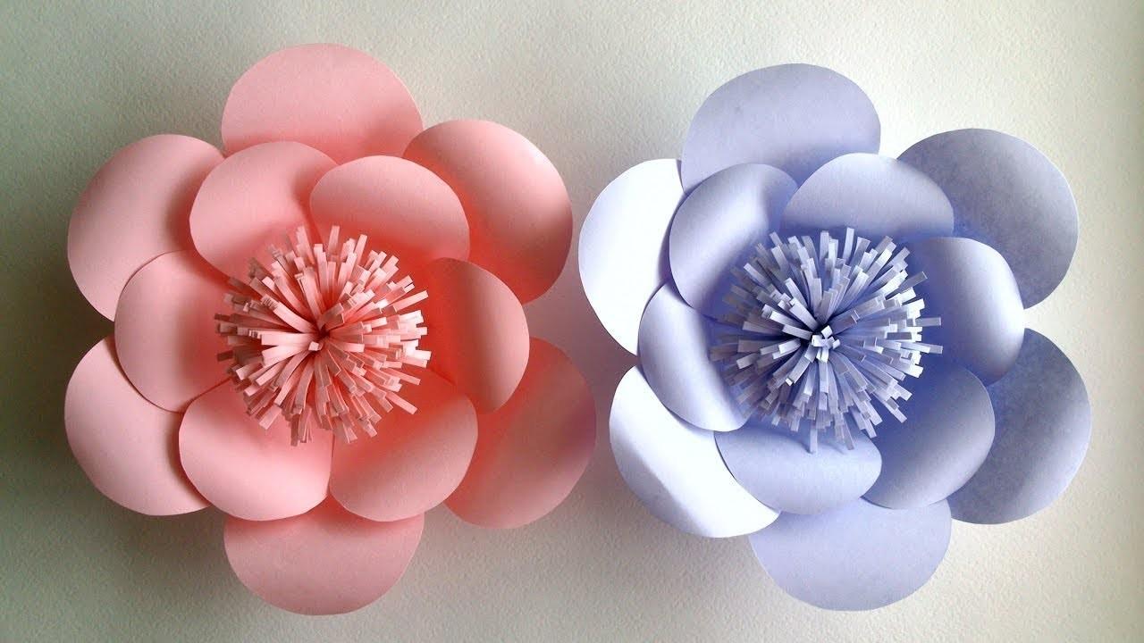How To Make A Paper Flower Kagojer Ful Toiri