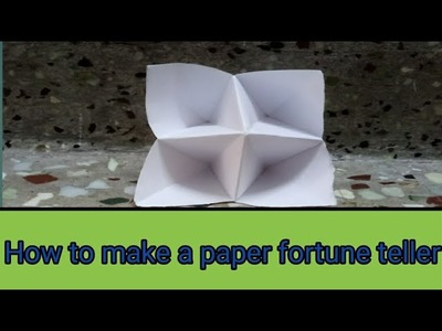 How to make a paper origami Fortune Teller (Four Cups) Easy!!