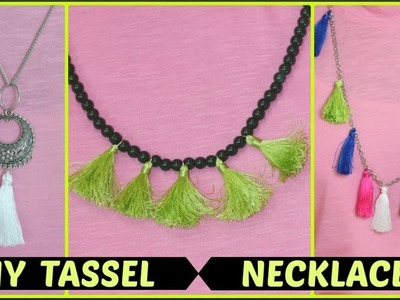 How to make beautiful necklace at home.DIY tassel necklace.INDIANGIRLCHANNEL TRISHA