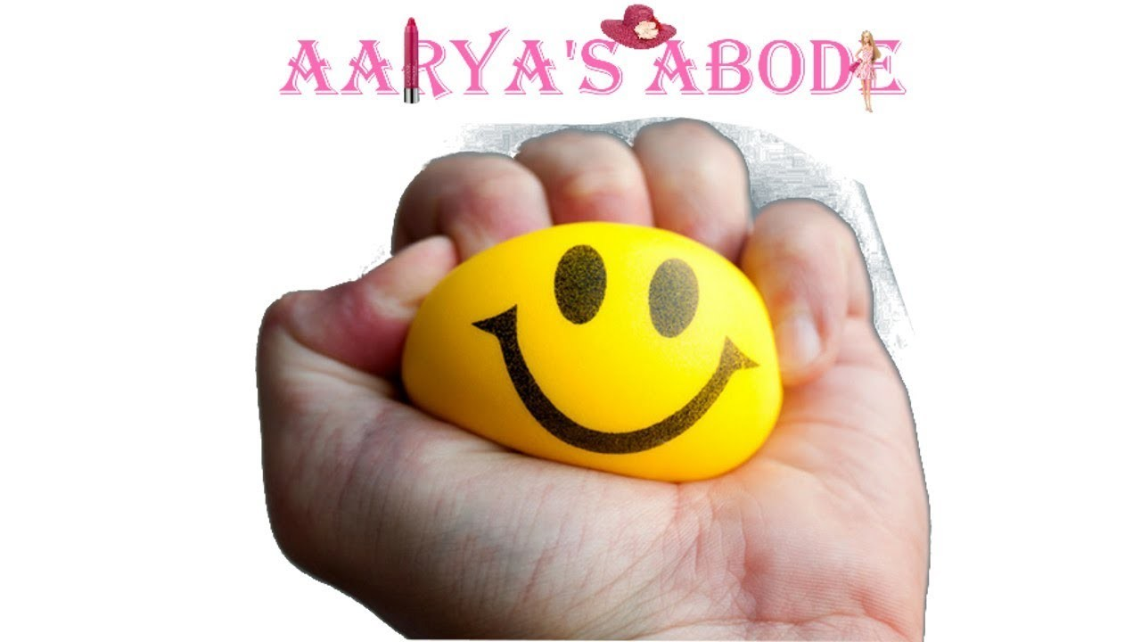 How to make stress ball with balloons corn flour without borax DIY