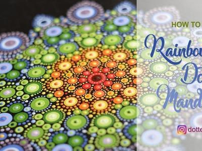 How to paint dot mandala #1 | Rainbow Mandala |