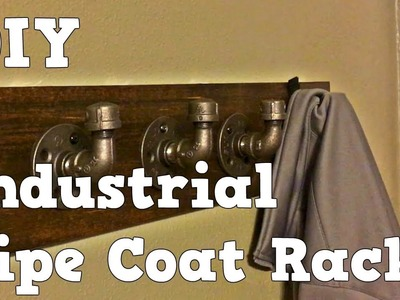 Industrial Pipe Coat Rack - Easy DIY
