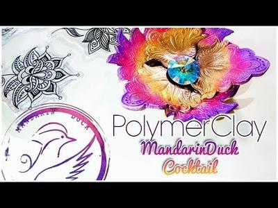 MANDARIN DUCK COCKTAIL l INDIAN FLOWERS - fleurs Indiennes polymer clay tutorial