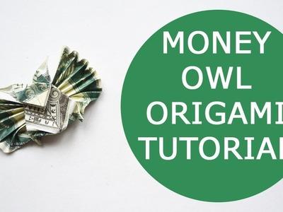 Money Owl Origami Dollar Tutorial DIY Folded No glue