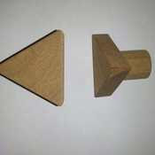 original triangle solid wood knob,oak,sapele,walnut wooden handle