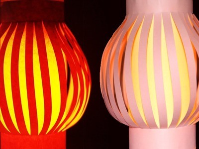 Paper Lamp: How to Make a Hanging Paper Lanterns Light.