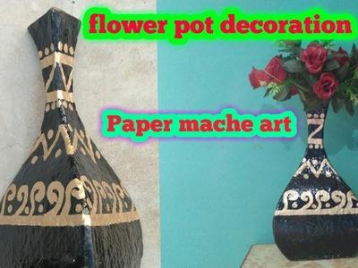 Paper mache flower pot decoration.flower power.flowering plants.flower vase.Educational power