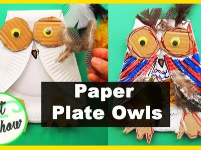 Paper Plate Owls | Fatema's Art Show