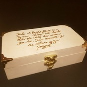Personalised wood burned boxes