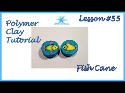 Polymer Clay Tutorial - Fish Cane - Lesson #55
