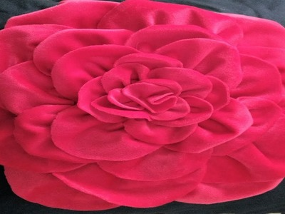 Red Flower Pillow | DIY Decorating ideas | Cushion Cover idea | Smocked Pillow Cover Design | Pillow
