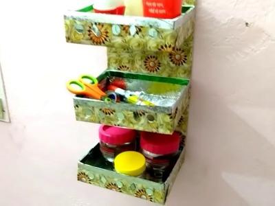 Reuse Sweets Box | DIY wall hanging Multipurpose organizer kitchen | DIY Home Decorating Idea |