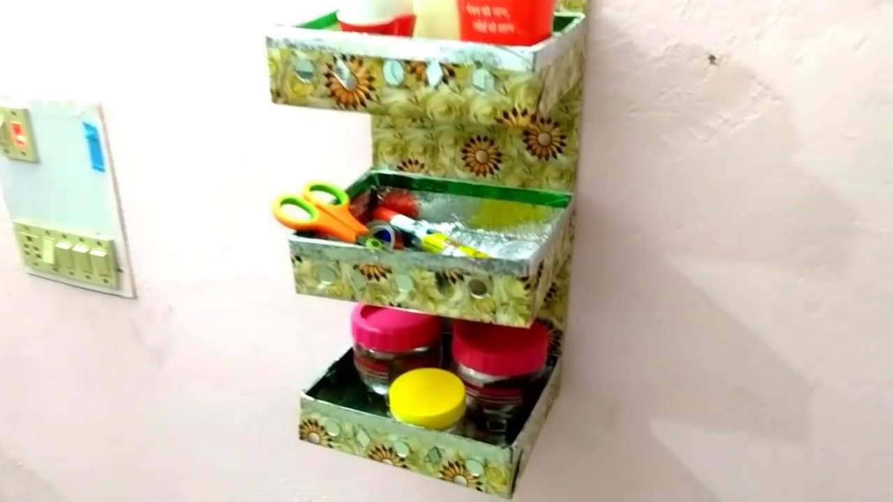 Reuse Sweets Box | DIY wall hanging Multipurpose organizer kitchen | DIY Home Decorating Idea |