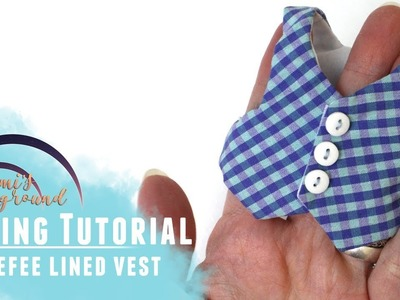 Sewing a vest for Littlefee and other YoSD BJDs