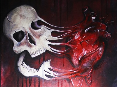 Speed Paint: Melted Skull (Limited Edition Prints!)