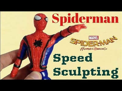 Spiderman (Spiderman Homecoming) - Out of Clay. Polymer clay