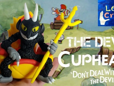 The Devil Final Boss (Cuphead) out of clay. cold porcelain. polymer Clay tutorial - Let's Create!