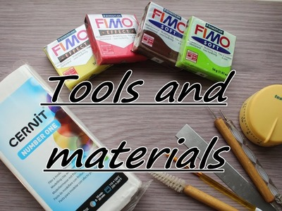 Tools and materials which i use for work with polymer clay. Инструменты и материалы.