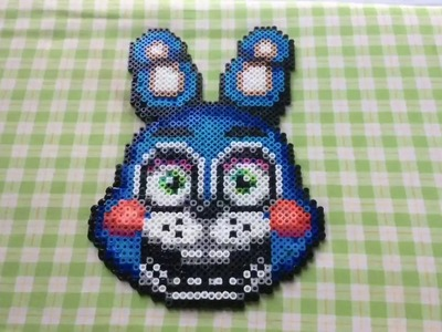 Toy Bonnie FNAF 2 Perler Beads