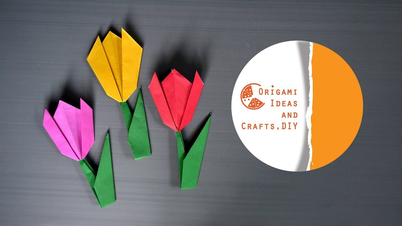 Tulip flower origami for kids easy tulip flower diy origami for tulip flower origami for kids easy tulip flower diy origami for beginners kids mightylinksfo