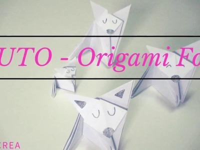 TUTO- DIY - ORIGAMI FOX - renard en origami