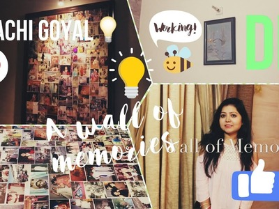 Wall of Memories | DIY | Home decor | Room Decor | Saachi Goyal | Diwali Decor | Style under budget