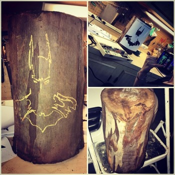 Wood Etching