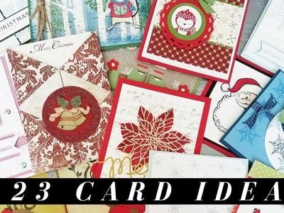 23 Christmas Card Ideas from a Swap