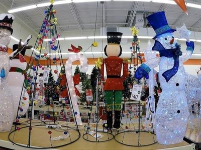 4K CHRISTMAS SECTION AT BIG LOTS - Christmas Shopping Christmas Trees Decorations Ornaments