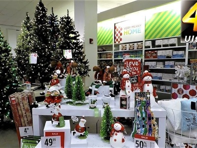 4K CHRISTMAS SECTION AT JC PENNEY - Christmas Shopping Christmas Trees Decorations J.C. Penney