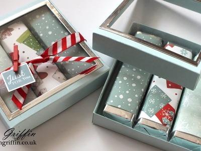 6th Day of Christmas | Chocolate Bar Gift Box With Window