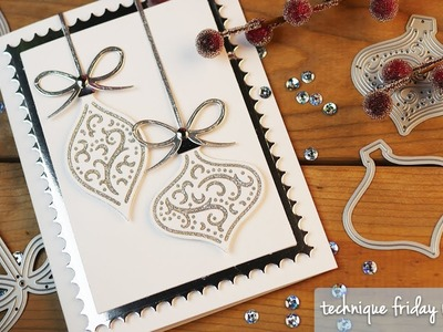 Beautiful Baubles Christmas Card | Technique Friday with Els