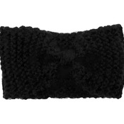 Black Knitted Wool Handmade Hairband for Women
