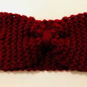 Burgundy/Red Knitted Wool Handmade Hairband for Women